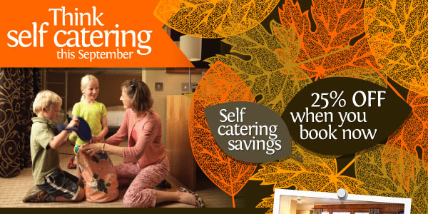 Think self catering this September. 25% off when you book now.